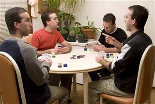 Friends Playing Poker