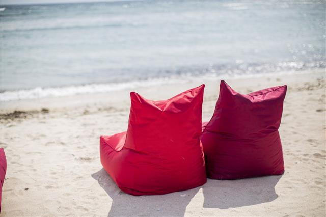 Bean Bags On The Beach