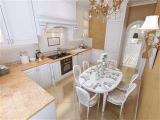 White Corner Kitchen