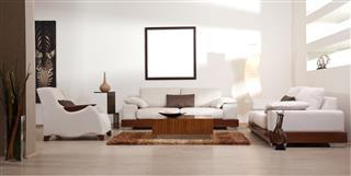 Modern White Interior Living Room
