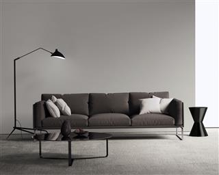 Brown Sofa In Modern Living Room