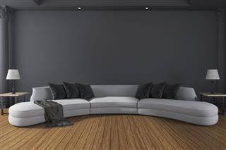 Long Sofa In Room