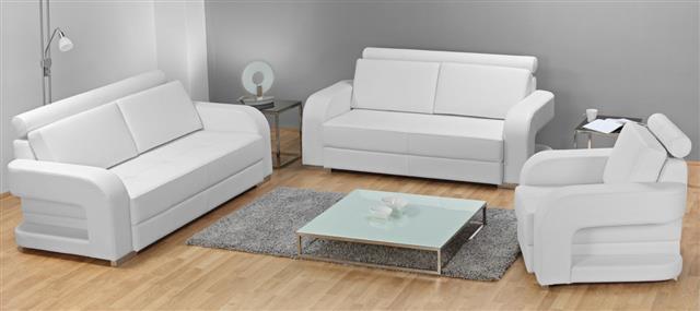 Studio Shot Of White Furniture