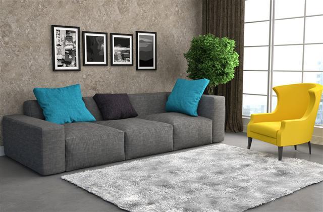 Interior With Modern Sofa