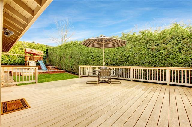 Backyard With Patio Area