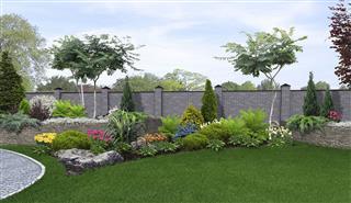 Backyard Horticultural Background