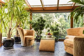 Indoor Orangerie With Furniture