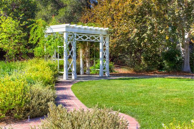 Garden Trellis And Path