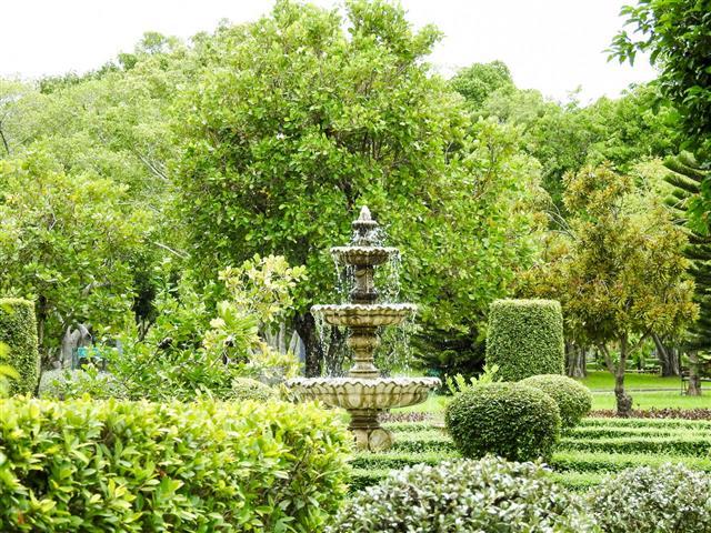 Old Fountain In The Garden