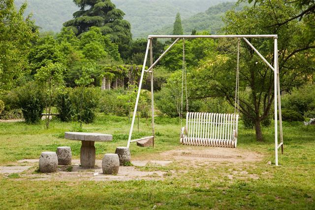 Swing In Garden