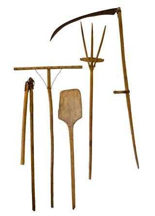 Old garden tool set