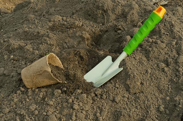 Shovel And Peat Pot For Seedlings