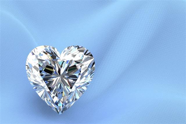 Shiny White Diamond Illustration