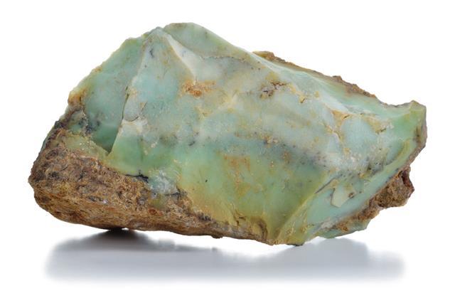 Rough Green Opal Veins Mineral