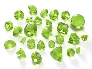 Birthstone Peridot Or Chysolite Gems