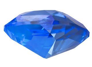 Blue Transparent Sapphire Side View