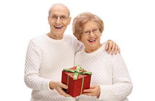 seniors with present