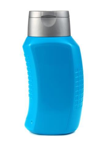 Blue Bottle Of Shampoo