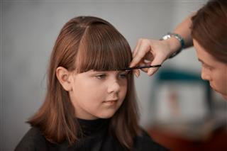 Girl At Hairdresser
