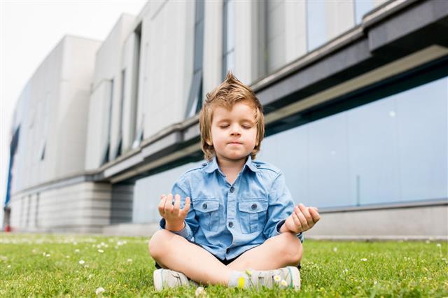 Little Boy Practicing Yoga