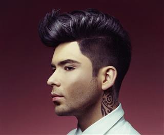 Man With Stylish Haircut
