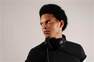 African Man With Headphones