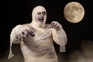 Scary Halloween Mummy In The Mist