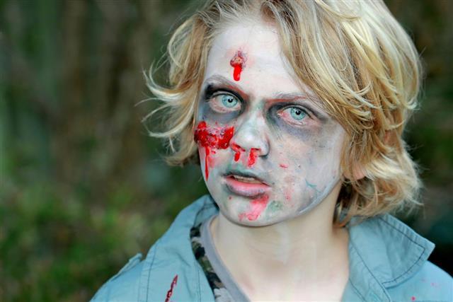 Boy Child Zombie Halloween