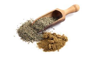 Cumin Seeds And Ground Powder