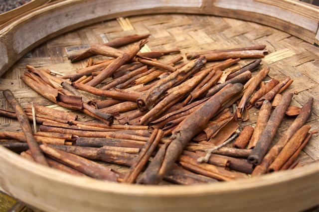 Cinnamon Sticks In A Basket