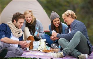 Friends Enjoying Outdoors