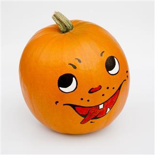 Orange Colored Pumpkin With Grimace