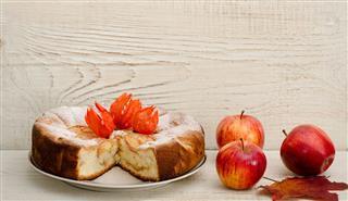 Apple Pie And Ripe Apples