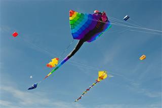 Multicolored Large Kites