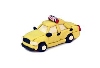 Plasticine Taxi Car