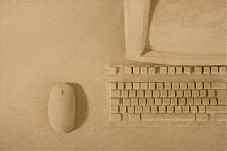 Sand Sculptured Personal Computer