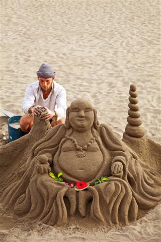 Sand Buddha Sculpture