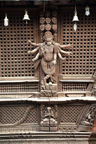 Hindu Temple In Kathmandu Nepal