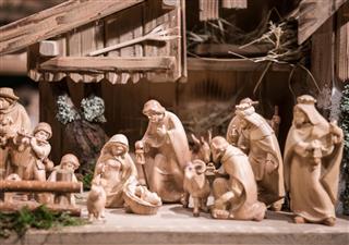 Handmade Christmas Wooden Crib