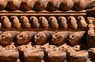 Carved Wooden Nepalese Door