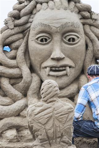 Medusa Sand Sculpture
