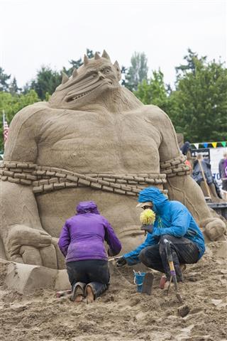 Sand Sculpture Monster