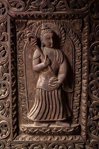 Carved Wooden Door Design