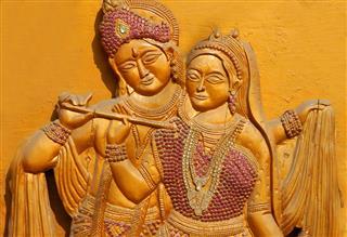 Carving Of Hindu God Sri Krishna