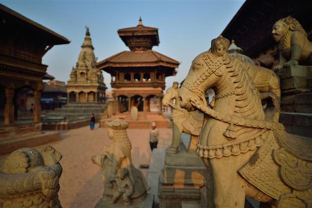 Bakthapur In First Morning Light