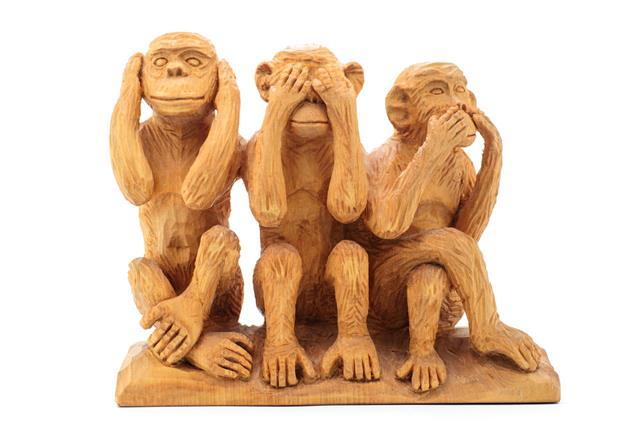 Three Wise Monkeys Handmade