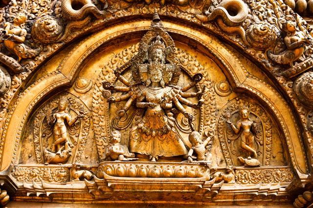 Kathmandu Hindu Temple Carvings