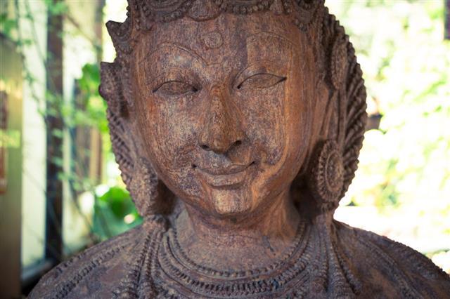 Chinese Wooden Buddha Statue