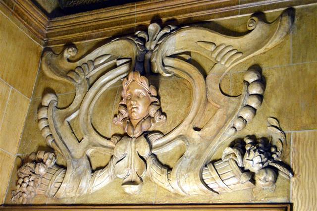 Sculpture Of A Wooden Head