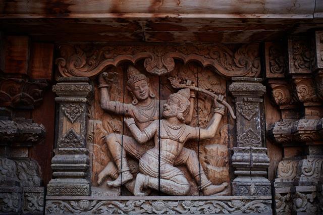 Vishnu Wooden Statues